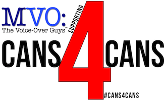 MVO: The Voice-Over Guys Support #Cans4Cans