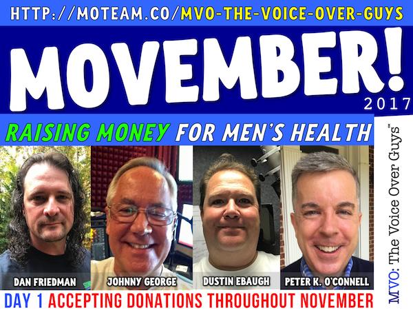 MVO The Voice-Over Guys Movember 2017