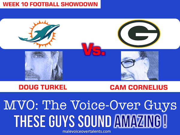 Football Showdown 2018 Week 10 MVO The Voiceover Guys