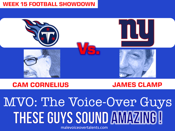 Football Showdown 2018 Week 15 MVO The Voiceover Guys