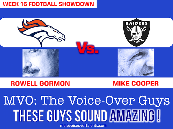 Football Showdown 2018 Week 16 MVO The Voiceover Guys