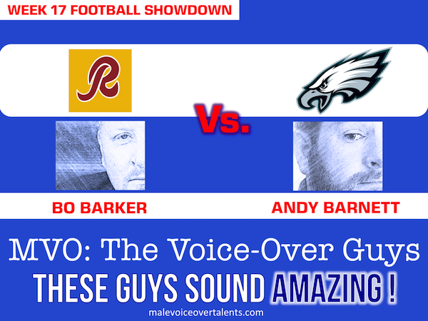 Football Showdown 2018 Week 17 MVO The Voiceover Guys