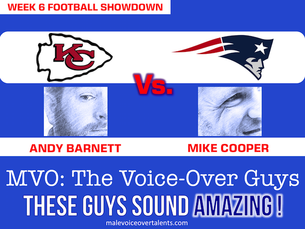 Football Showdown 2018 Week 6 MVO The Voiceover Guys