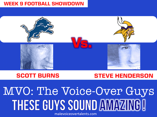 Football Showdown 2018 Week 9 MVO The Voiceover Guys