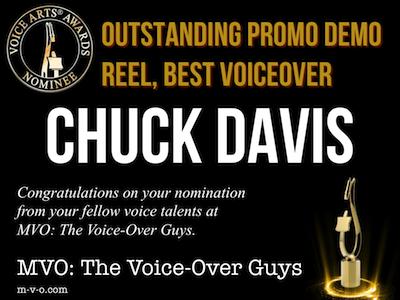 2018 Voice Arts Awards Chuck Davis MVO: The Voiceover Guys