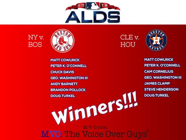 ALDS 2018 Winners MVO: The Voice-Over Guys