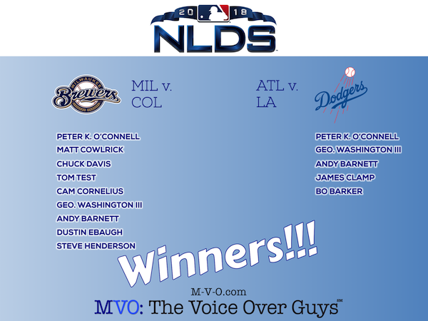 NLDS 2018 Winners MVO: The Voice-Over Guys