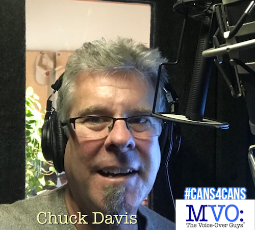 Chuck Davis MVO The Voiceover Guys #Cans4Cans 2018