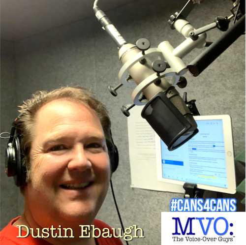 Dustin Ebaugh MVO The Voiceover Guys #Cans4Cans 2018