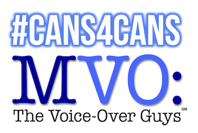 MVO: The Voice-Over Guys #Cans4Cans