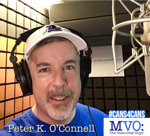 Peter K. O'Connell MVO The Voiceover Guys #Cans4Cans 2018