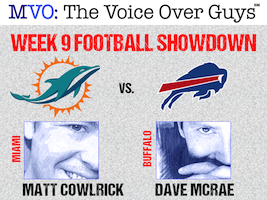 MVO: The Voice-Over Guys NFL Showdown Week 9