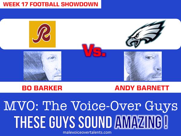 Football Showdown 2018 Week 17 MVO The Voiceover Guys
