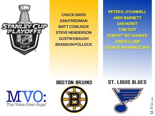 MVO The Voiceover Guys 2019 NHL Stanley Cup Picks