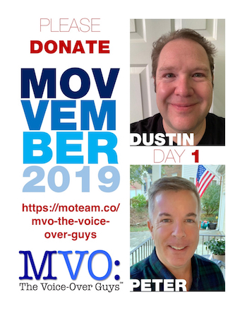Movember 2019 Day 1 MVO: The Voiceover Guys