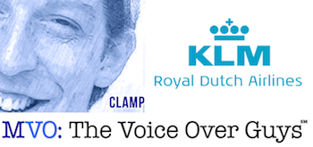 Male Voiceover Talent James Clamp KLM Royal Dutch Airlines