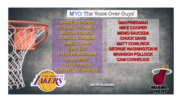 NBA 2020 CHAMPION MVO: THE VOICEOVER GUYS