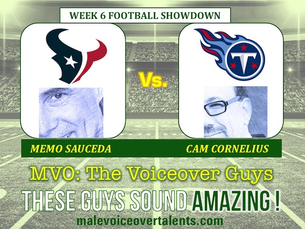 MVO The Voiceover Guys NFL 20 WEEK 6