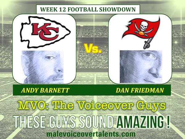 MVO The Voiceover Guys NFL 20 WEEK 12