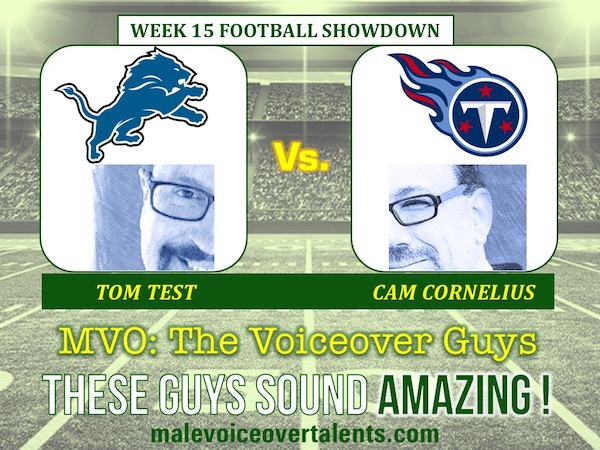 MVO The Voiceover Guys NFL 20 WEEK 15