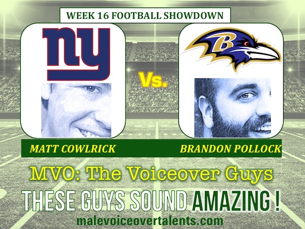 MVO The Voiceover Guys NFL 20 WEEK 16